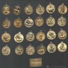 Antigüedades: COLECCION DE MEDALLAS Y PLACA DE LA SEMANA SANTA DE VALLADOLID COMPLETA. Lote 46334008
