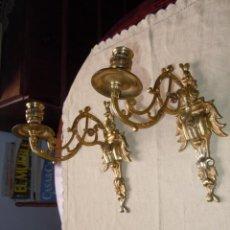 Antigüedades: APLIQUES PARA PIANO EN BRONCE DORADO SIGLO XIX EPOCA ISABELINA. Lote 46335717