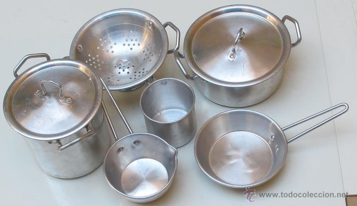 Conjunto de utensilios de cocina en miniatura comprar for Utensilios antiguos de cocina