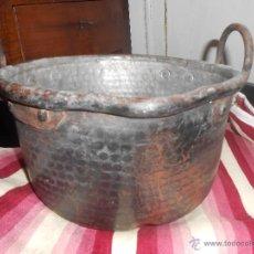Antigüedades: CALDERO DE COBRE -SIGLO XIX-. Lote 46349714