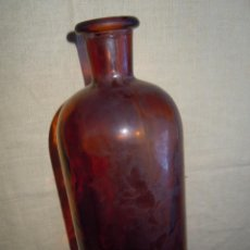 Antigüedades: FRASCO ANTIGUO DE LABORATORIO COLOR AMBAR. Lote 46351531
