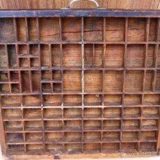 Antigüedades: CAJA DE IMPRENTA MODELO ESPAÑOL FINALES DEL IXX. Lote 58405427