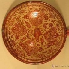 Antigüedades: PLATO DE REFLEJO DORADO DE MANISES SIGLO XVIII.. Lote 46355877