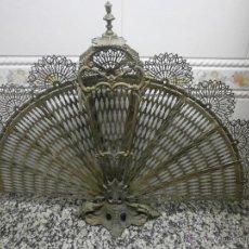 Antigüedades: ANTIGUO ABANICO METALICO PARA DECORAR. Lote 46359915