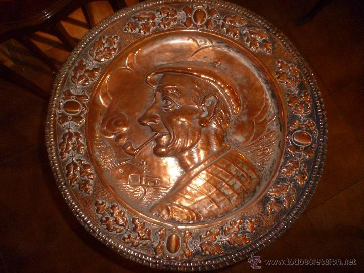 PAREJA DE PLATOS DE COBRE 40 CM (Antigüedades - Hogar y Decoración - Platos Antiguos)