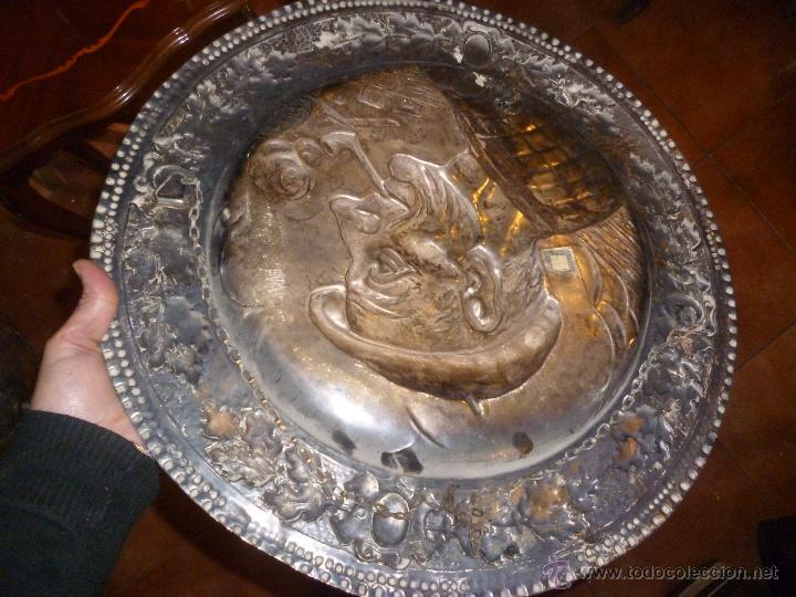 Antigüedades: PAREJA DE PLATOS DE COBRE 40 CM - Foto 4 - 46362416