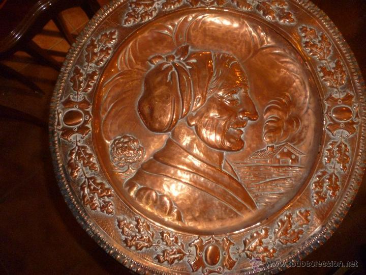 Antigüedades: PAREJA DE PLATOS DE COBRE 40 CM - Foto 5 - 46362416