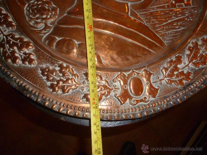 Antigüedades: PAREJA DE PLATOS DE COBRE 40 CM - Foto 7 - 46362416