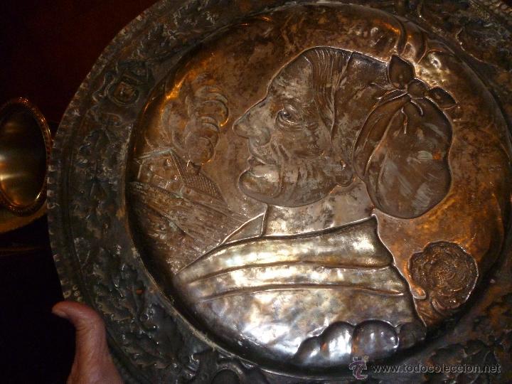 Antigüedades: PAREJA DE PLATOS DE COBRE 40 CM - Foto 9 - 46362416