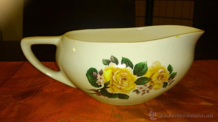 ANTIGUA SALSERA DE PORCELANA . F S. Nº 29. 303 (Antigüedades - Porcelanas y Cerámicas - Inglesa, Bristol y Otros)