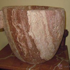 Antigüedades: MORTERO PESA 36,5 KILOS MUY ANTIGUO PRECIOSO. Lote 46368402
