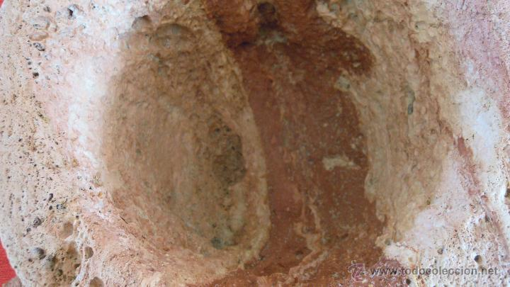 Antigüedades: MORTERO PESA 36,5 KILOS MUY ANTIGUO PRECIOSO - Foto 5 - 46368402