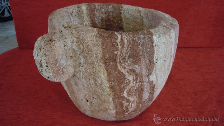 Antigüedades: MORTERO PESA 36,5 KILOS MUY ANTIGUO PRECIOSO - Foto 16 - 46368402