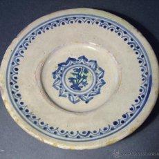 Antigüedades: PLATO CERAMICA CATALANA XVIII . Lote 46376305