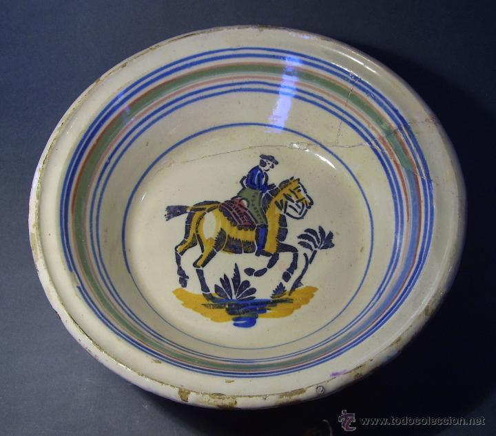 Antigüedades: LEBRILLO CERAMICA DE TRIANA XIX - Foto 2 - 46376345