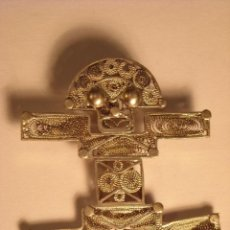 Antigüedades: ANTIGUO BROCHE COLANTE FILIGRANA PLATA PURA 999 MOMPOX COLOMBIA FABRICADO A MANO.. Lote 46408523