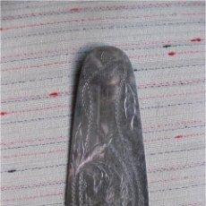 Antigüedades: PRECIOSA PAREJA DE CUBIERTOS DE SERVIR EN PLATA 800, CON 2 PUNZONES, 2ª MITAD XIX. Lote 46408638