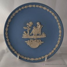 Antigüedades: PLATO MOTHER WEDGWOOD * MADE IN ENGLAND * AZUL Y BLANCO. Lote 46430417