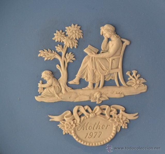 Antigüedades: PLATO MOTHER WEDGWOOD * MADE IN ENGLAND * AZUL Y BLANCO - Foto 2 - 46430417