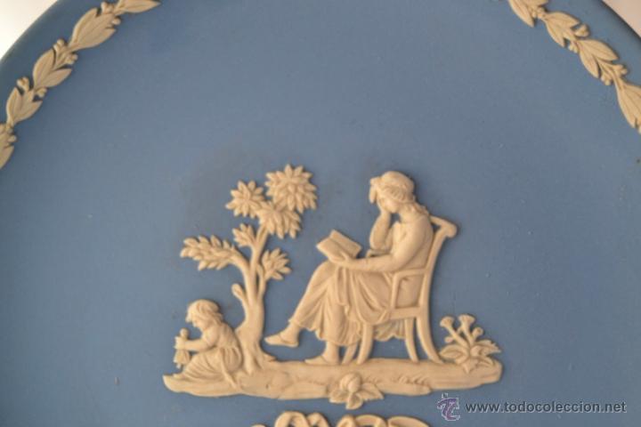 Antigüedades: PLATO MOTHER WEDGWOOD * MADE IN ENGLAND * AZUL Y BLANCO - Foto 3 - 46430417