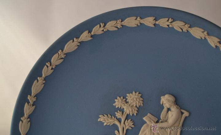 Antigüedades: PLATO MOTHER WEDGWOOD * MADE IN ENGLAND * AZUL Y BLANCO - Foto 4 - 46430417