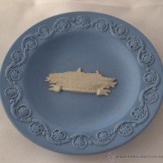 Antigüedades: PLATO WOLD CRUISE WEDGWOOD * MADE IN ENGLAND * AZUL Y BLANCO. Lote 46430490