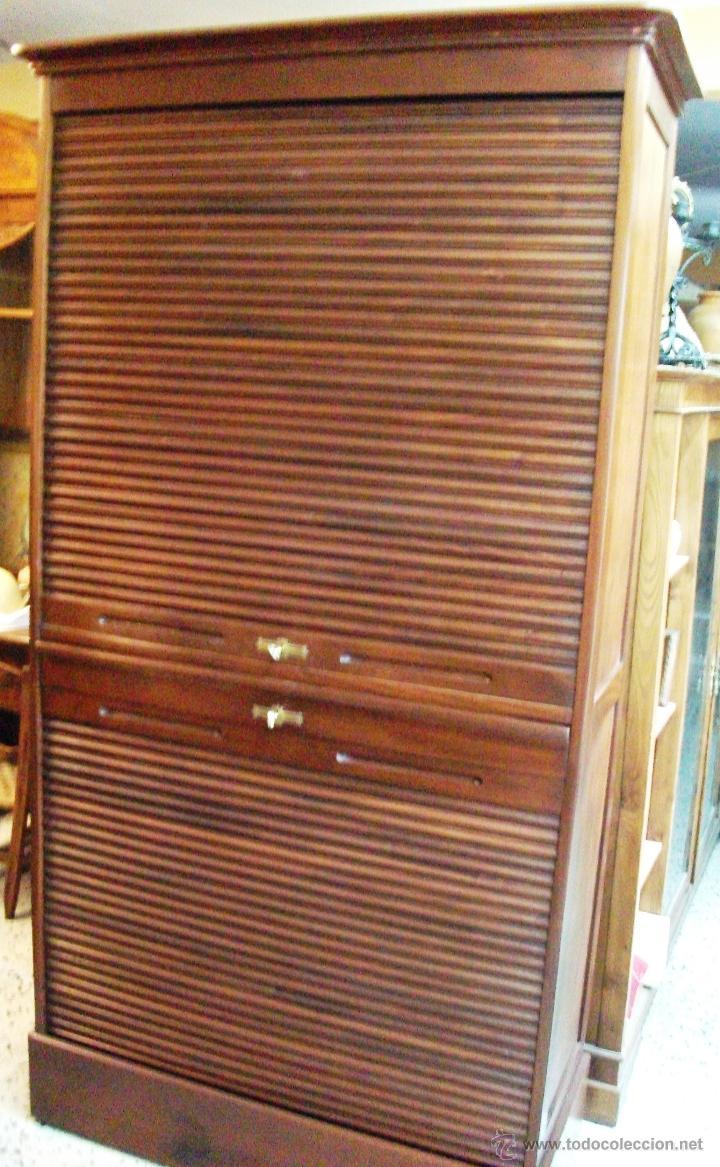 Mueble persianas estilo americano de caoba comprar armarios antiguos en todocoleccion - Persianas para muebles ...