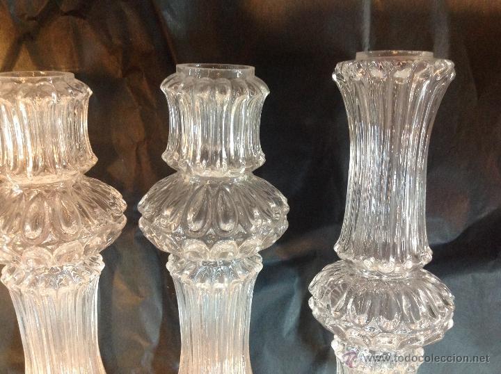 Antigüedades: TUBOs COLUMNA DE CRISTAL PARA FUSTE DE LAMPARA - Foto 6 - 46461593
