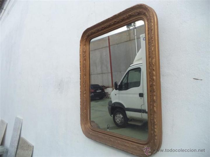 Antigüedades: espejo antiguo madera dorada - Foto 2 - 46462096