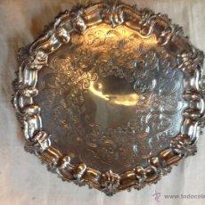 Antigüedades: BANDEJA SALVILLA PLATEADA. Lote 46484273