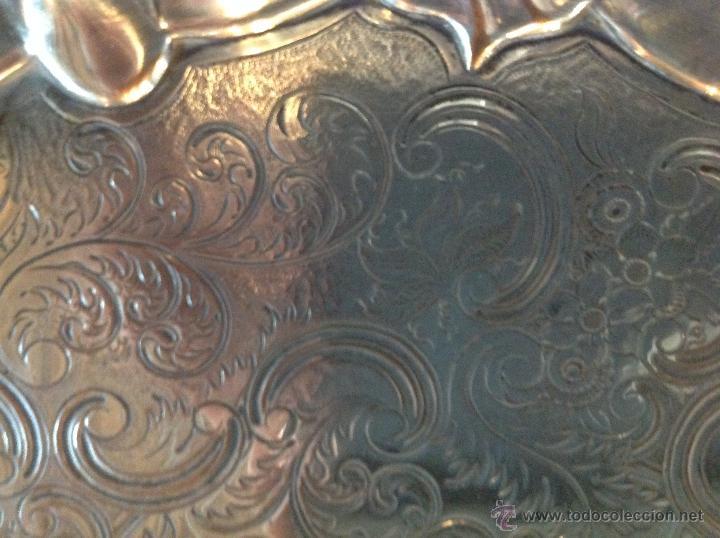Antigüedades: bandeja salvilla plateada - Foto 5 - 46484273