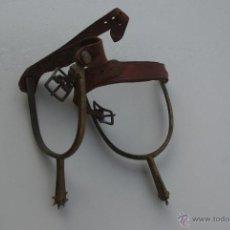 Antigüedades: PAREJA DE ESPUELAS HIERRO. Lote 46490691