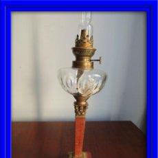 Antigüedades: PRECIOSO QUINQUE ANTIGUO DE MARMOL Y BRONCE. Lote 45038123