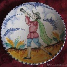 Antigüedades: TRIANA PLATO DE CERÁMICA. ESTILO DE MONTERÍA 20,7 CM.. Lote 46491831