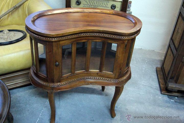 Preciosa licorera mueble para licores toda e comprar - Muebles de madera antiguos ...