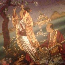 Antigüedades: CAJA CON ESPEJO INTERIOR CHINA JAPONESA PINTADA Y LACADA FINALES SIGLO XIX, PRIMEROS XX. Lote 46502190