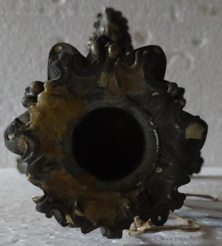 Antigüedades: PAREJA DE CANDELABROS ESTILO ROCOCÓ - 389 - Foto 7 - 43000093