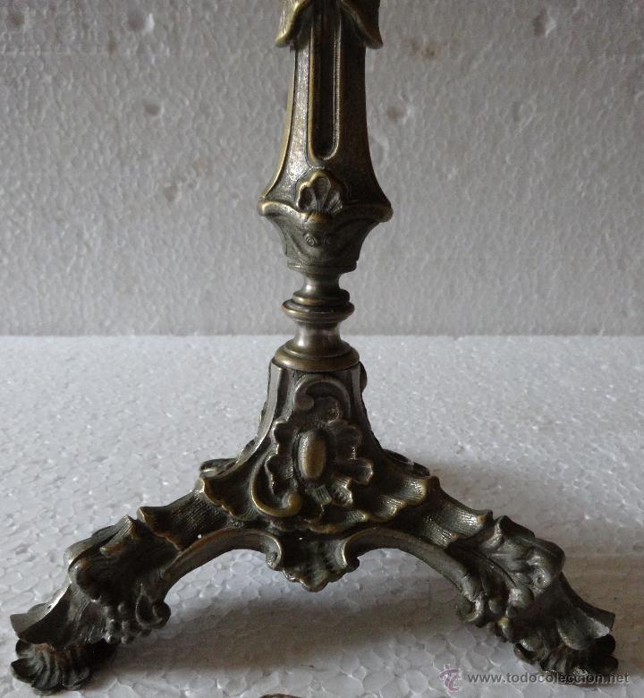Antigüedades: PAREJA DE CANDELABROS ESTILO ROCOCÓ - XXX 389 - Foto 13 - 43000093