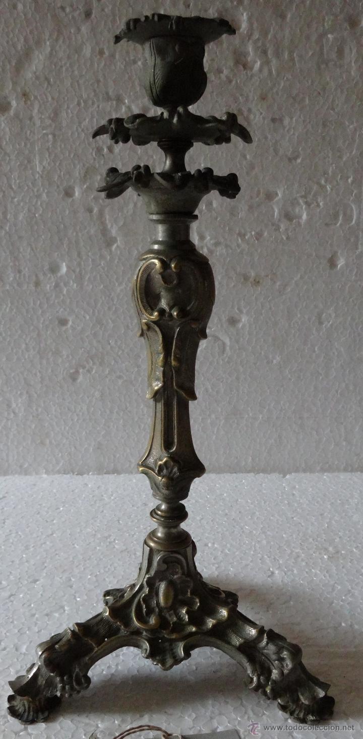 Antigüedades: PAREJA DE CANDELABROS ESTILO ROCOCÓ - XXX 389 - Foto 15 - 43000093