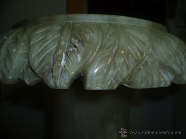 Antigüedades: BONITO Y PESADO JARRON TALLADO EN MARMOL. 38 CM DE ALTO Y 25 CM EN LA PARTE MAS ANCHA. - Foto 4 - 46510713