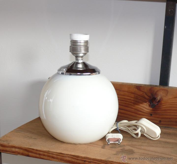 Antigüedades: INCREIBLE LAMPARA BOLA ANTIGUA AÑOS 60 NUEVA A ESTRENAR MANISES - Foto 2 - 76712094