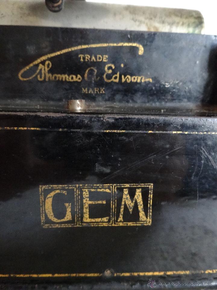 Antigüedades: FONÓGRAFO EDISON MODELO GEM - XXX 140 - Foto 9 - 42978820