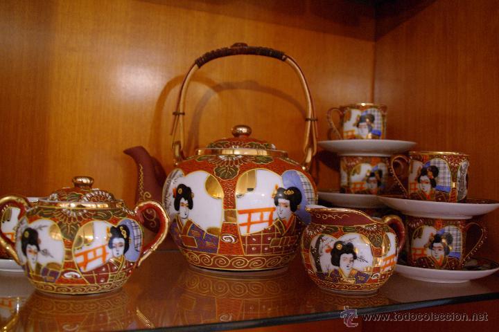 JUEGO DE TE PORCELANA JAPONES (Antigüedades - Porcelana y Cerámica - Japón)