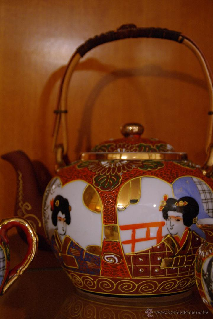 Antigüedades: Juego de te porcelana Japones - Foto 6 - 46529133