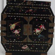 Antigüedades: CAJA JOYERO CON COMPARTIMENTOS TÉCNICA DEL LACADO - 243. Lote 43018338