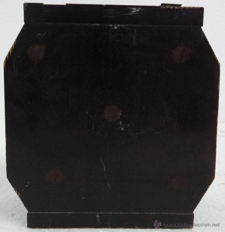 Antigüedades: CAJA JOYERO CON COMPARTIMENTOS TÉCNICA DEL LACADO - 243 - Foto 2 - 43018338