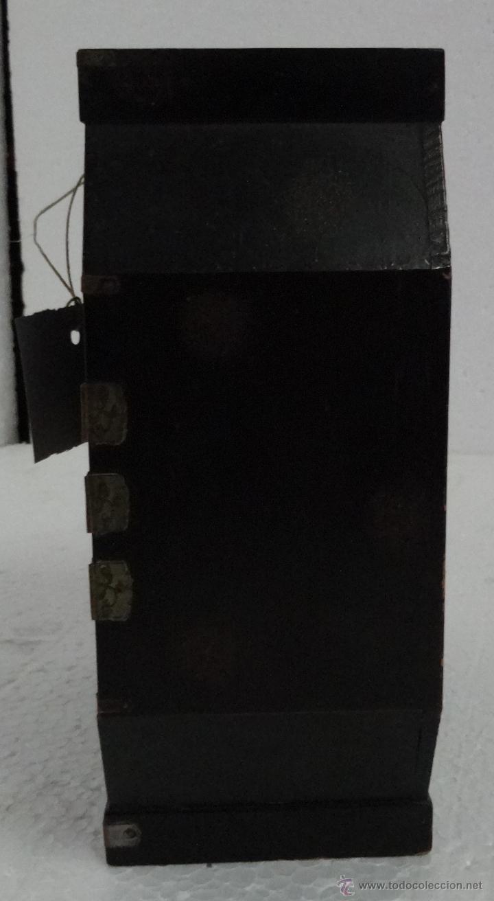 Antigüedades: CAJA JOYERO CON COMPARTIMENTOS TÉCNICA DEL LACADO - 243 - Foto 3 - 43018338