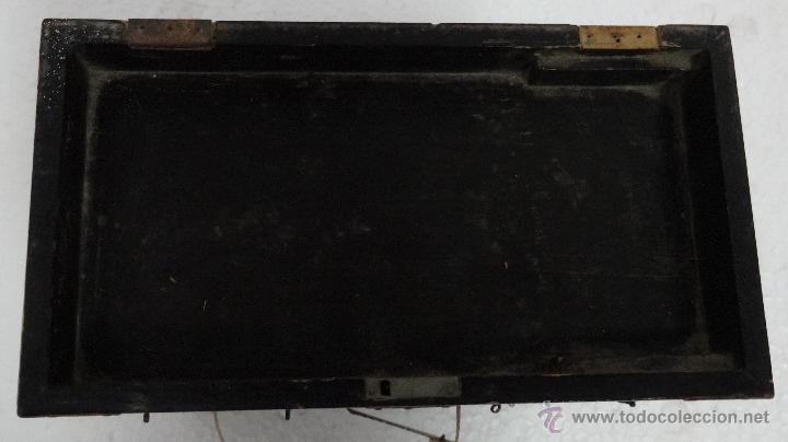 Antigüedades: CAJA JOYERO CON COMPARTIMENTOS TÉCNICA DEL LACADO - 243 - Foto 4 - 43018338