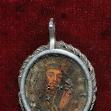 Antigüedades: RELICARIO PINTADO A DOBLE CARA CON MARCO DE PLATA DE FINALES DEL SIGLO XVII. Lote 46543570
