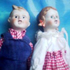 Muñecas Porcelana: PAREJA MUÑECOS PORCELANA NIÑOS CANTORES. Lote 46546439